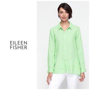 Eileen Fisher Organic Linen classic collar shirt